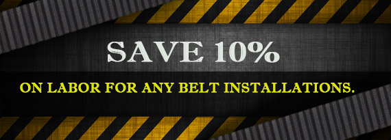 Save 10% on Belt Installation Labor